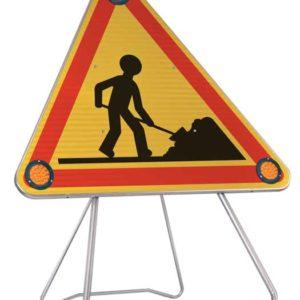 Panneau lumineux Triflash pour sécuriser vos chantiers