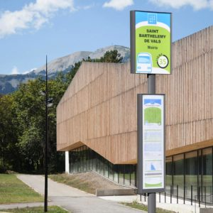Poteau arrêt de bus Opti'bus - Mobilier urbain - Signaux girod