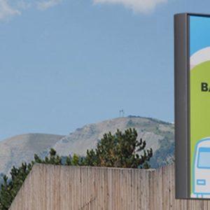 Poteau arrêt bus Optibus - Réalisation Signaux Girod