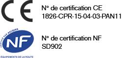 certification ce nf panneau aluminium profile