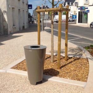 Corbeille de propreté Synergie - Mobilier urbain Signaux Girod