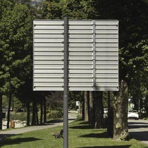 panneau directionnel aluminium profile signaux girod