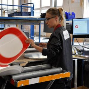 Application face panneau routier - Fabrication Française