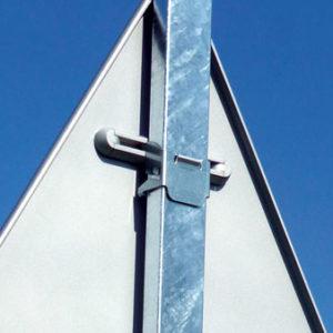 Bride fixation IZI pour panneaux de route - Signaux Girod
