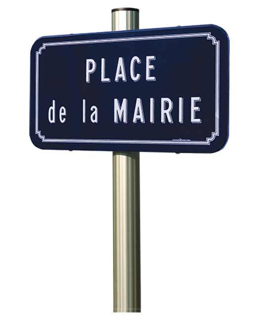 Panneau de rue émaillé
