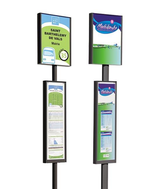 Poteau d'arrêt de bus Opti'bus