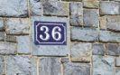 numéro de maison en aluminium