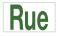 texte vert panneau aluminium