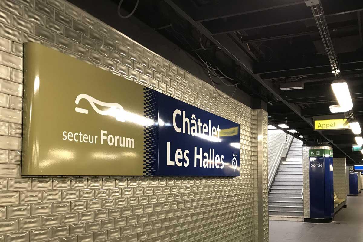 Projet RATP châtelet à paris : Réalisation Signaux Girod