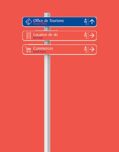 signalétique mono mât Simo - Signaux Girod