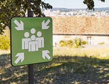 Panneau de signalisation zone de regroupement pour votre école - Aménager votre école signaux signaux girod