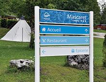 Signalétique Camping : Bi-mat gamme SIMO