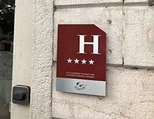Panneau hôtel, classement hôtelier