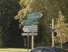 Panneau signalisation directionnelle - Aménagement collectivité