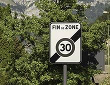 Panneau de signalisation fin zone 30 - Aménager votre collectivité signaux girod
