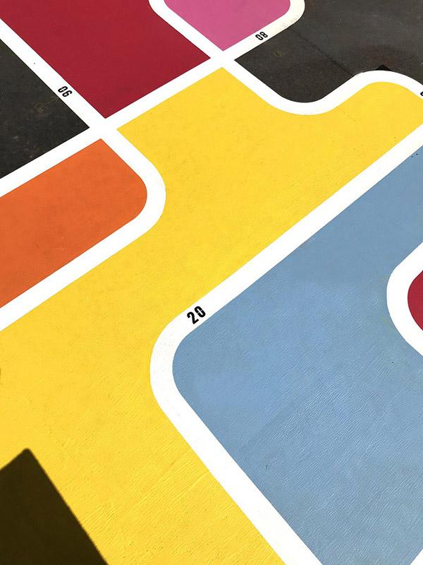 peinture au sol cour elementaire sud de Libourne signaux girod
