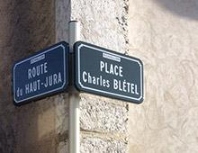Plaque de rue, panneau de rue - Aménager votre collectivité signaux girod
