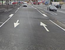 Fleche de circulation double sens pour parking - aménager votre centre commercial signaux girod