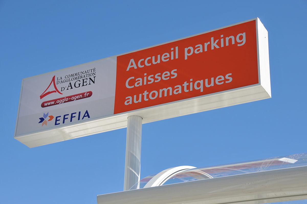 signaletique sur mesure enseigne parking effia signaux girod