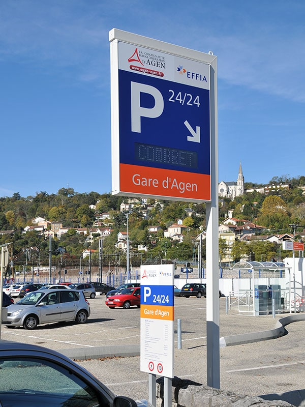 signaletique enseigne parking effia signaux girod