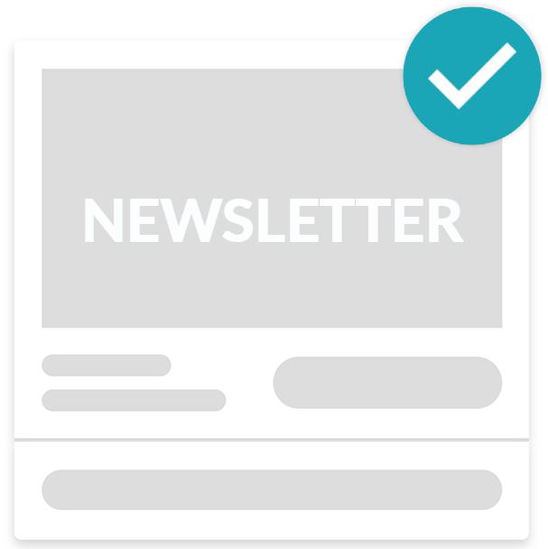 Confirmation inscription newsletter