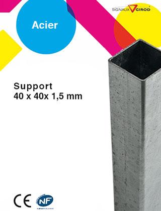 support 40x40x1,5 en acier