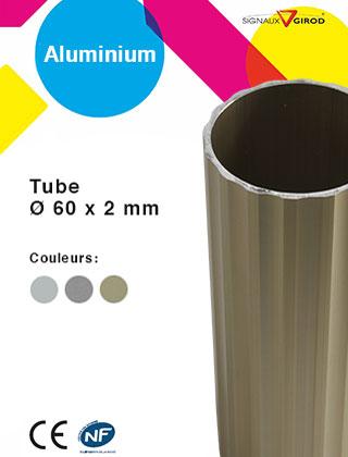 Tube Ø 60 x 2 mm aluminium