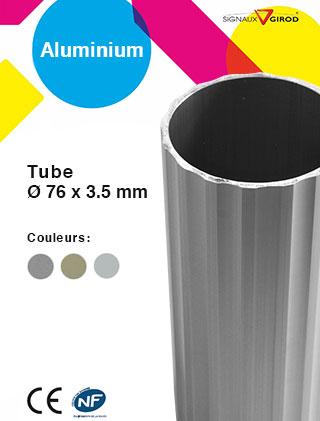 Tube 76 x 3,5 en aluminium