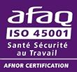 Certification Afaq iso 45001